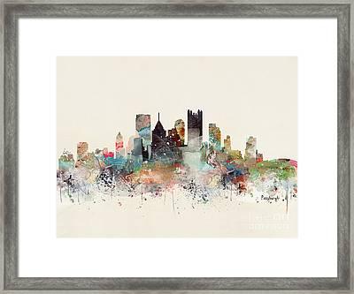 Pittsburgh Pennsylvania Skyline Framed Print