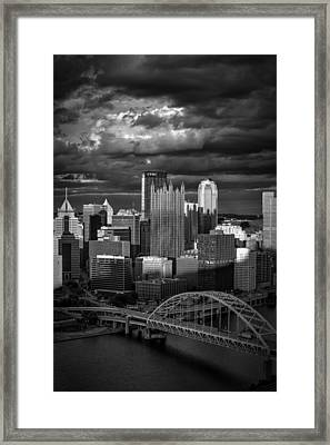 Pittsburgh Pennsylvania Skyline Framed Print by David Haskett