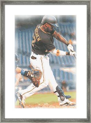 Pittsburgh Pirates Andrew Mccutchen 2 Framed Print by Joe Hamilton