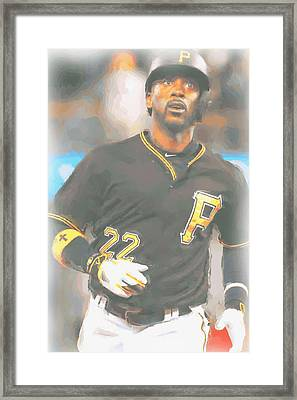 Pittsburgh Pirates Andrew Mccutchen 4 Framed Print by Joe Hamilton