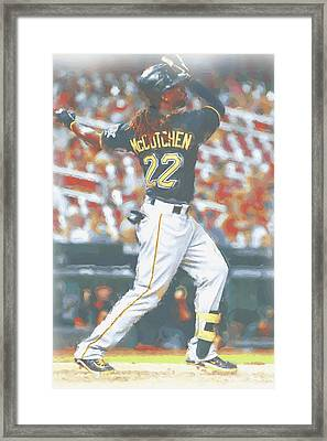 Pittsburgh Pirates Andrew Mccutchen 5 Framed Print by Joe Hamilton