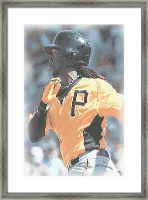 Pittsburgh Pirates Andrew Mccutchen Framed Print by Joe Hamilton