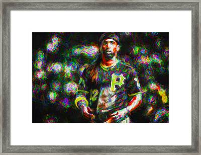 Pittsburgh Pirates Andrew Mccutchen Painted Framed Print by David Haskett