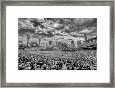 Pittsburgh Pirates Pnc Park Black And White 2 Framed Print by David Haskett