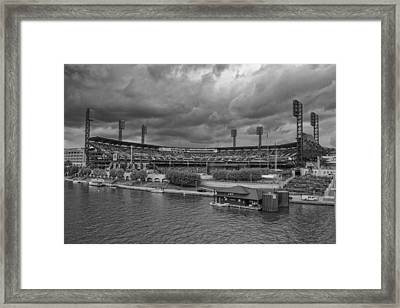 Pittsburgh Pirates Pnc Park Bw A Framed Print by David Haskett