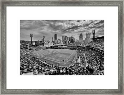 Pittsburgh Pirates Pnc Park Bw X Framed Print