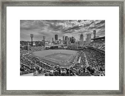Pittsburgh Pirates Pnc Park Bw X1 Framed Print by David Haskett