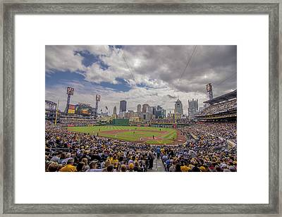 Pittsburgh Pirates Pnc Park X3 Framed Print by David Haskett
