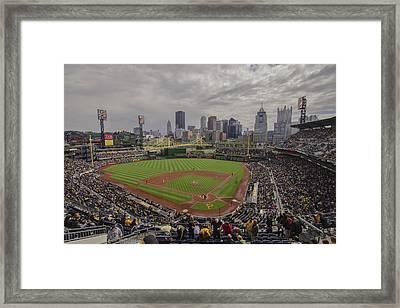 Pittsburgh Pirates Pnc Park X4 Framed Print by David Haskett