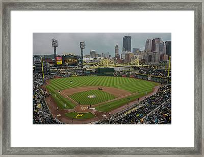 Pittsburgh Pirates Pnc Park X5 Framed Print by David Haskett