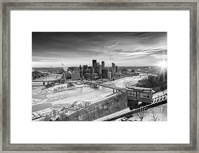 Pittsburgh Skyline Bw 1 Framed Print by Emmanuel Panagiotakis