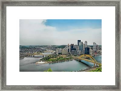 Pittsburgh Skyline Framed Print by Dyle   Warren