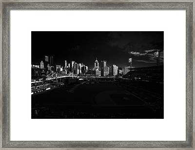 Pittsburgh Skyline Pnc Park Pirates Framed Print by David Haskett