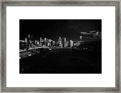 Pittsburgh Skyline Pnc Park Pirates Framed Print