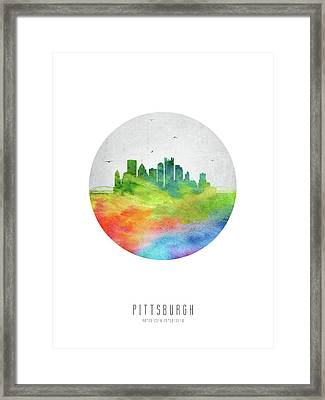 Pittsburgh Skyline Uspapi20 Framed Print