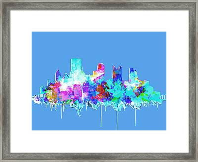 Pittsburgh Skyline Waterolor 2 Framed Print by Bekim Art
