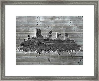 Pittsburgh Skyline Wood Framed Print