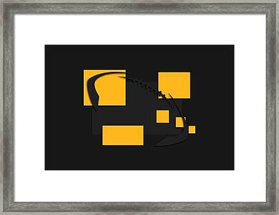 Pittsburgh Steelers Abstract Shirt Framed Print by Joe Hamilton
