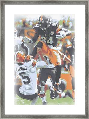 Pittsburgh Steelers Antonio Brown 4 Framed Print by Joe Hamilton
