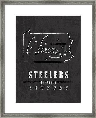 Pittsburgh Steelers Art - Nfl Football Wall Print Framed Print
