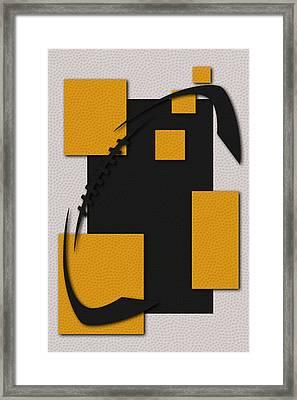 Pittsburgh Steelers Football Art Framed Print