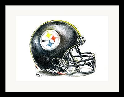 Steelers Drawings Framed Prints