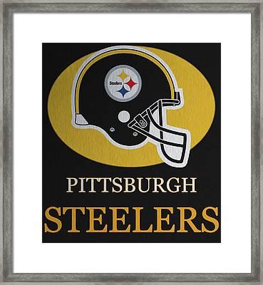 Pittsburgh Steelers Metal Sign Framed Print by Dan Sproul