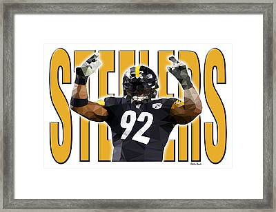 Framed Print featuring the digital art Pittsburgh Steelers by Stephen Younts