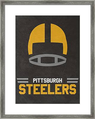 Pittsburgh Steelers Vintage Art Framed Print