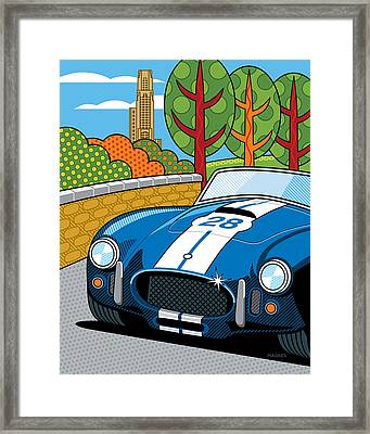 Pittsburgh Vintage Grand Prix Framed Print by Ron Magnes