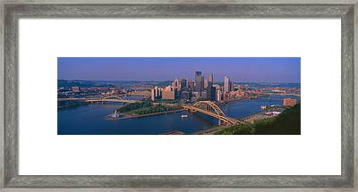 Pittsburgh,pennsylvania Skyline Framed Print
