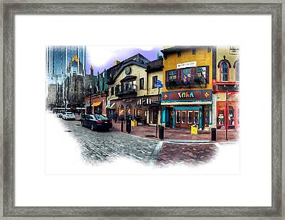 Pittsburgh's Market Square Framed Print by Mattucci Photography