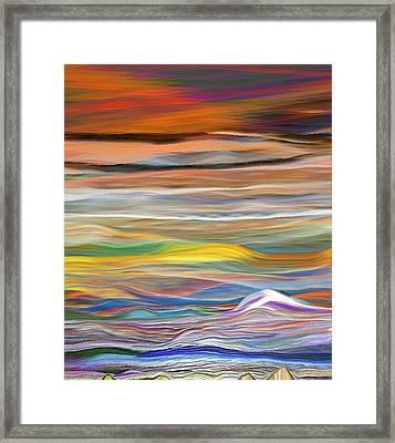 Framed Print featuring the digital art Pittura Digital Ghibli1128 by Sheila Mcdonald