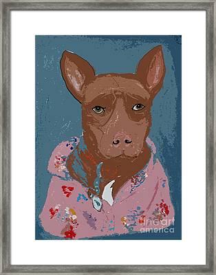 Pitty In Pajamas Framed Print by Ania M Milo
