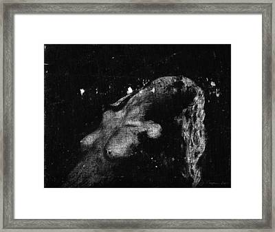 Pity Obscured Framed Print by Jerry Cooper