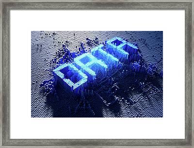 Pixel Data Concept Framed Print