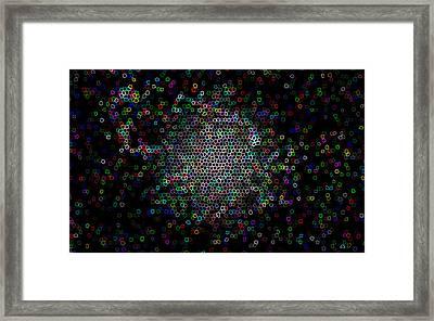 Pixel Mob Framed Print