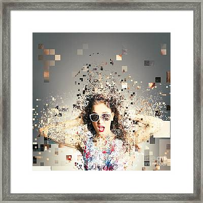 Pixel Pinup In 3d Printing Download Framed Print