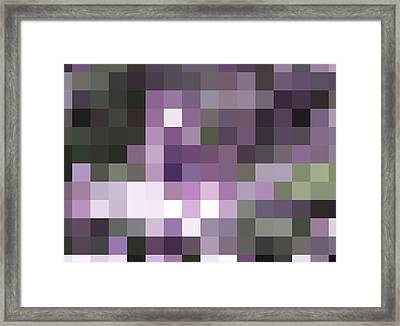 Pixelated Framed Print by Rona Black