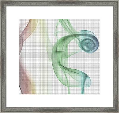 Pixelated Smoke Framed Print