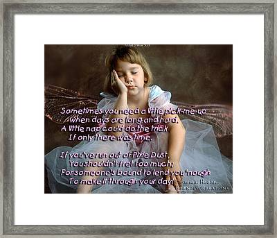 Pixie Dust Framed Print