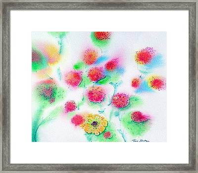 Pixie Flowers Framed Print by Tina Storey