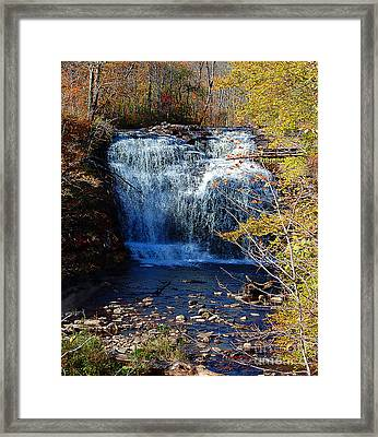 Framed Print featuring the photograph Pixley Falls State Park by Diane E Berry