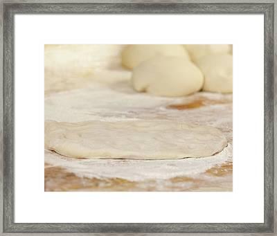 Pizza Beginnings Framed Print
