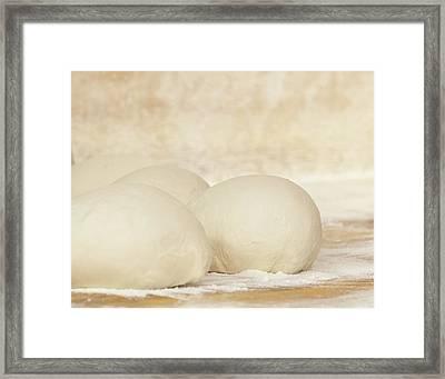 Pizza Dough At Rest Framed Print