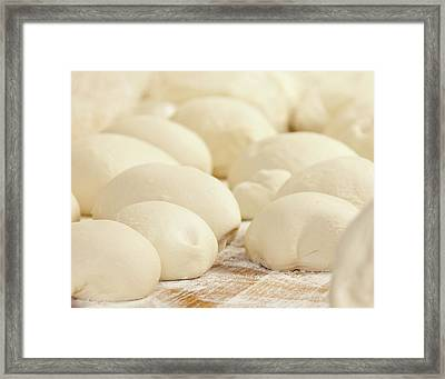 Pizza Dough Rising Framed Print