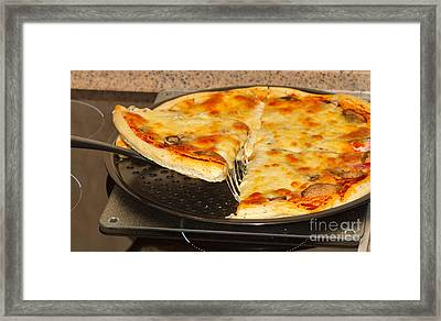 Pizza Framed Print by Louise Heusinkveld