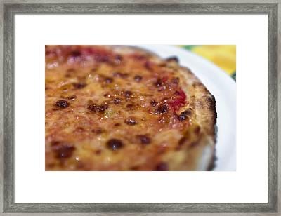 Pizza Margherita Framed Print