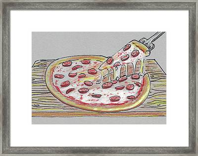 Pizza Framed Print by Masha Batkova