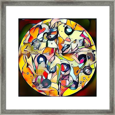 Pizza Painting Framed Print by Roger Smith